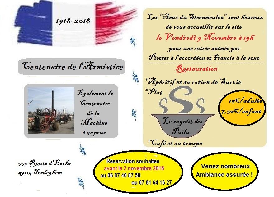 Affiche de l'évènement réalisée par Brigitte, membre de l'association des Amis du Steenmeulen
