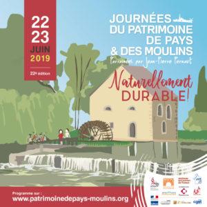 22 - 23 Juin 2019 : Journées du Patrimoine de Pays et des Moulins @ Le Steenmeulen