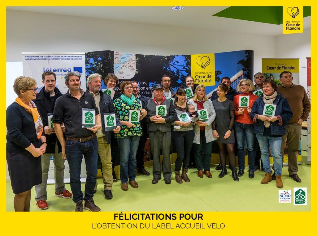 """bicycle-friendly tourist site"""" labels flanders destination coeur de flandre CCFI"""